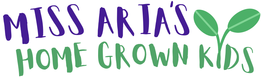 Miss Aria's Home Grown Kids Logo